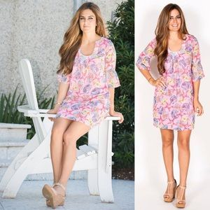 NWT Tracy Negoshian pink sea print dress